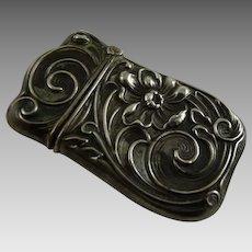 Antique Art Nouveau Silver Match Safe or Vesta