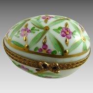 Vintage Limoges Porcelain Hand Painted Egg Box