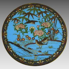 Antique Japanese Meiji Era Cloisonne Charger