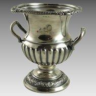 Vintage Silver Plated Urn Vase Barker Brothers Birmingham