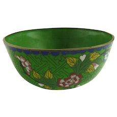 Vintage Chinese Cloisonne Enamel Bowl