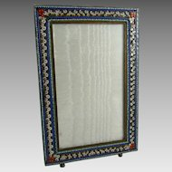 Vintage Micromosaic Picture Frame