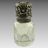 Antique Salts Bottle Sterling Repousse Gorham
