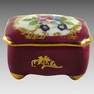 Vintage Limoges Porcelain Box Hand Painted Flowers