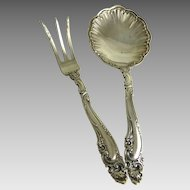 Vintage Gorham Sterling Nut Spoon Lemon Fork Decor Pattern