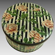 Vintage Tindeco Powder Tin Roses