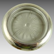 Vintage Sterling Glass Wine Coaster Whiting