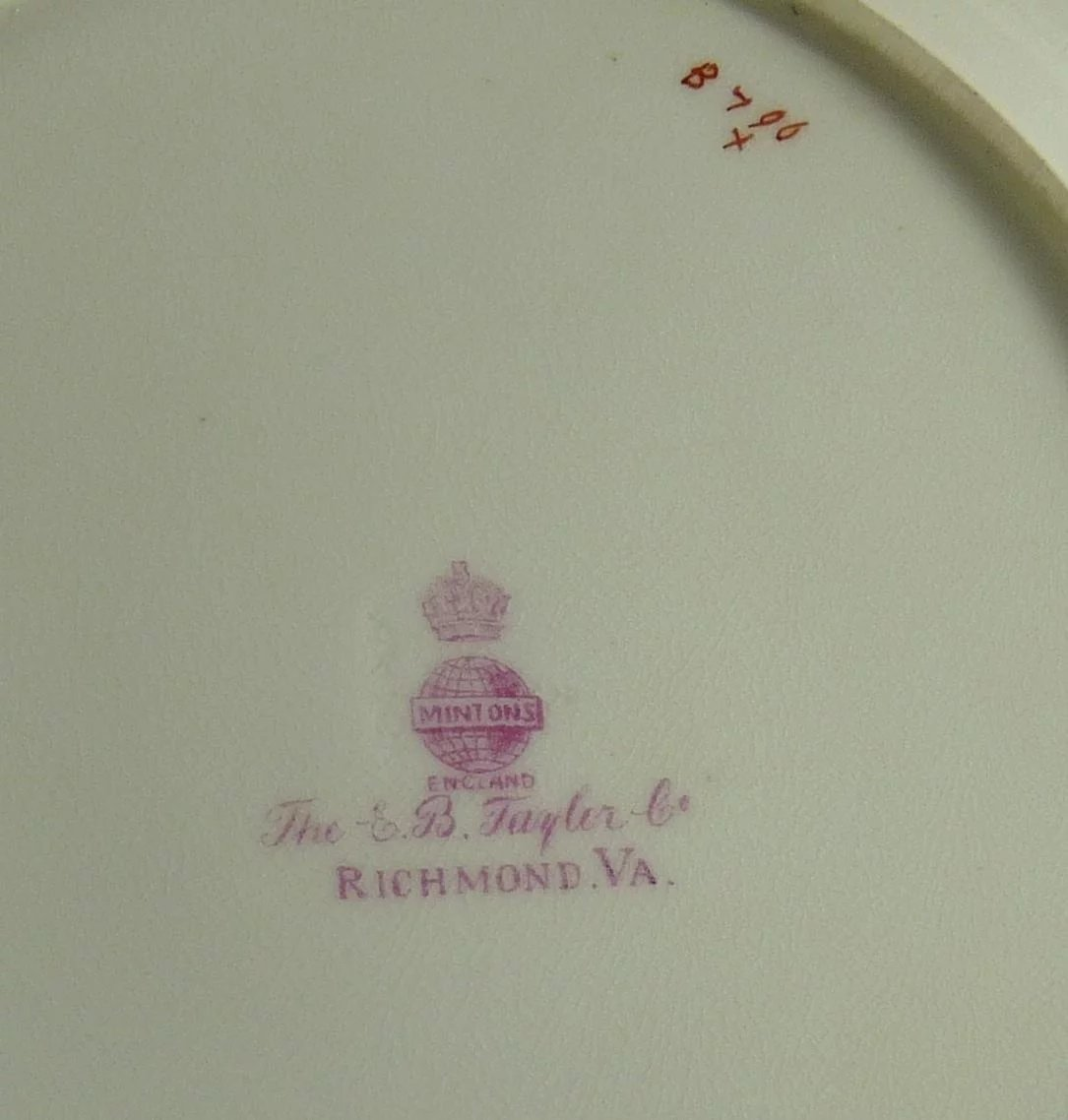 Antique Mintons Dessert Plate Set of Six Chinoiserie Decorated ...