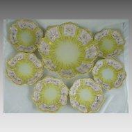 Vintage Vantine's Porcelain Berry Set Master Bowl and 6 Serving Bowls