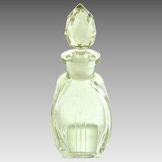 Vintage Art Deco Perfume Bottle Geometric Cut