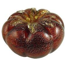 Vintage Murano Glass Paperweight Tomato