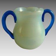 Vintage Fry Glass Opalescent Miniature Vase