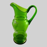 Antique Mary Gregory Style Pitcher