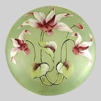 Antique Art Nouveau Green Glass Vanity Jar
