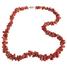 Vintage Branch Coral Choker Necklace