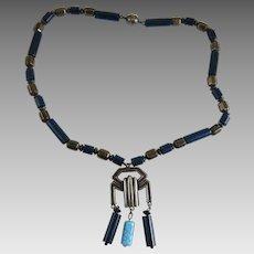 Vintage Art Deco Machine Age Necklace