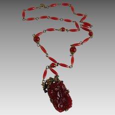 Vintage Art Deco Czech Glass Necklace