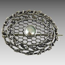 Antique Arts and Crafts Pin Sterling Enamel Charles Horner