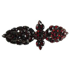 Antique Victorian Bohemian Garnet Rose Gold Pin