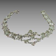 Vintage Crystal Open Back Bracelet