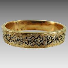 Antique Victorian Taille D'Epargne Bracelet 10K