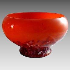 Vintage Czech Spatter Glass Bowl Art Deco