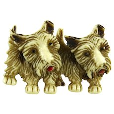Vintage Scottie Dog Pin Moveable Heads