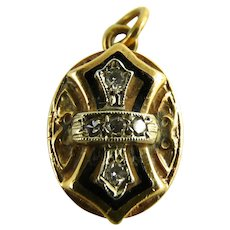 Antique 14K Diamond Victorian Slide