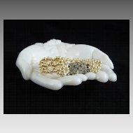 Vintage Woven Faux Pearl Bracelet