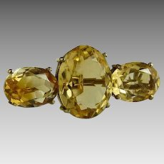 Antique Victorian Citrine Bar Pin Brooch
