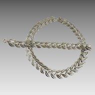 Vintage Danecraft Demi-Parure Sterling Necklace Bracelet