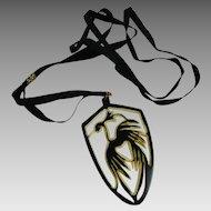 Vintage Celluloid Slide Necklace on Ribbon Art Deco