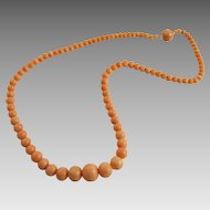 Antique Victorian Coral Bead Necklace
