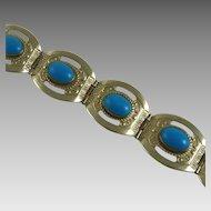 Vintage Taxco Bracelet Faux Turquoise