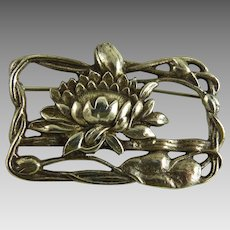 Vintage Art Nouveau Style Sterling Silver Pin