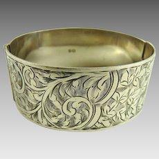 Antique Edwardian Sterling Silver Cuff Bracelet
