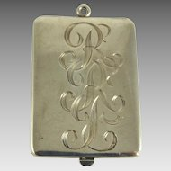 Vintage Sterling Silver Rectangular Locket