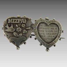 Antique Victorian Mizpah Sweetheart Pin Sterling