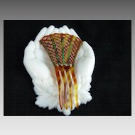 Vintage Celluloid and Rhinestone Hair Comb Ornament