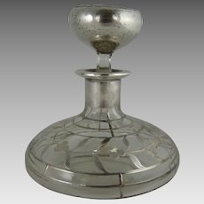 Antique Art Nouveau Silver Overlay Perfume Bottle