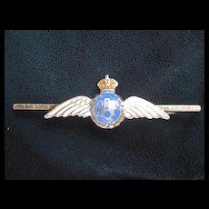 RAF - Royal Air Force Sweetheart Pin. Silver/Enamel