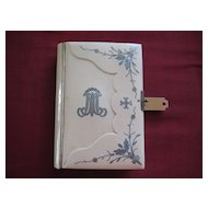 "Early 1900s German Prayer Book/Bible Ivorine w/Initial ""M"""
