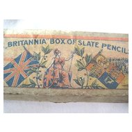 Very Old Box of Britannia of Slate Pencils, Made in Germany