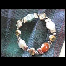 SALE: Scottish Victorian Bracelet w/Celtic Design, Agates and Carnelian