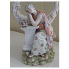 Beautiful Antique German Porcelain Candelabra KM Corona w/Crown & Star