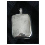 Vintage Silver Plated Whisky Flask - 3 oz