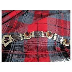 REDUCED: Scottish Victorian Gold Fill Cairngorm/Agate Bracelet