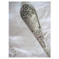 Exquisite Silver Fork, April 22, 1906. Monogrammed  ANNA