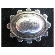 Early 1900s English Silver Brooch with Initials M.M.W.