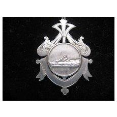Vintage English Silver Shooting Award w/Hallmarks c1909